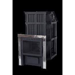"""Банная печь """"Сибирь"""" с закрытой каменкой и панорамной дверкой до 20 м3"""