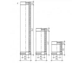 Сэндвич труба для дымохода К, ЖС 0,5мм / ЖС 0,5мм D115/200, L1000мм