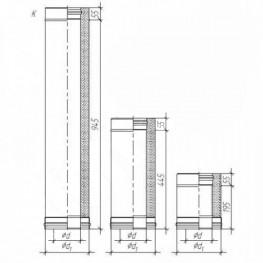Сэндвич труба для дымохода, Нерж. 0,5мм / Нерж. 0,5мм D115/200, L250мм