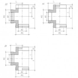 Тройник сэндвич 90° для дымохода К, ЖС 0,5мм/ ЖС 0,5мм D150/230