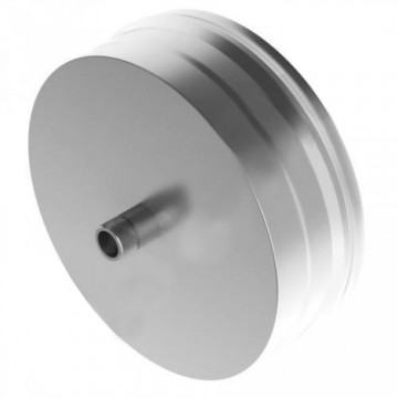 Заглушка для дымохода с конденсатоотводом Н, нержавейка 0,5мм d200