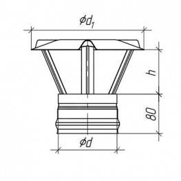 Зонт для дымохода, Д, 0,5мм d115