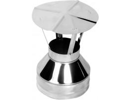 Оголовок-зонт для дымохода, К, ЖС 0,5мм / ЖС 0,5мм d115/200
