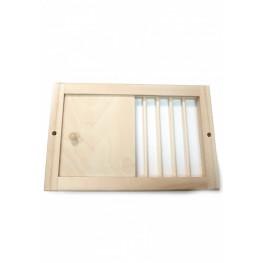 Вентиляционная решетка с задвижкой, 38х25 см